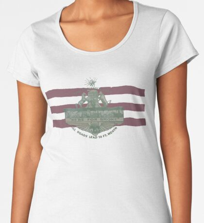 1912 Fort Worth Flag - The Panther City - We're For Smoke - All Roads Lead to Ft. Worth Premium Scoop T-Shirt