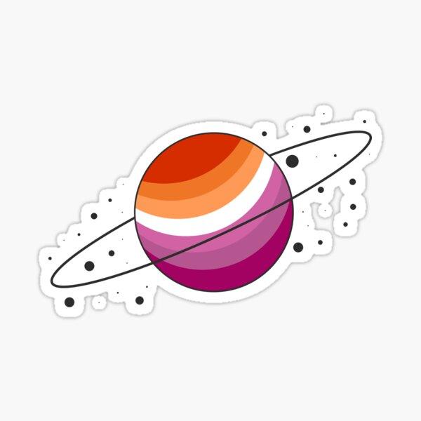 New Lesbian Pride Planet (Version 1) Sticker