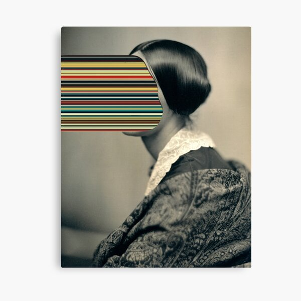 Unindentified woman / Hypercolor Canvas Print