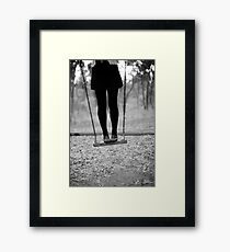 on swing Framed Print