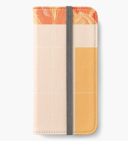 Mid-Century Tropical Orange Mood #redbubble #tropical iPhone Wallet
