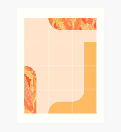 Mid-Century Tropical Orange Mood #redbubble #tropical Art Print