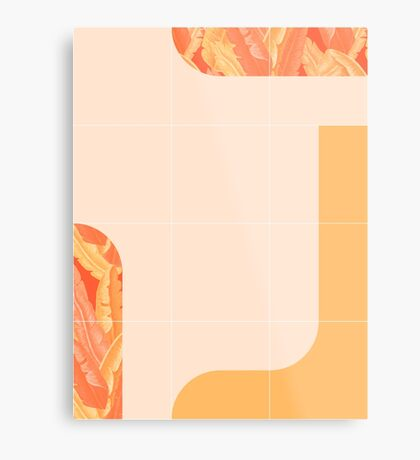 Mid-Century Tropical Orange Mood #redbubble #tropical Metal Print