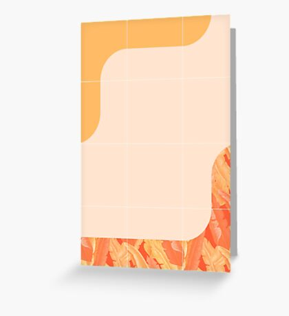 Mid-Century Tropical Orange Way #redbubble #tropical Greeting Card