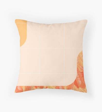 Mid-Century Tropical Orange Way #redbubble #tropical Floor Pillow