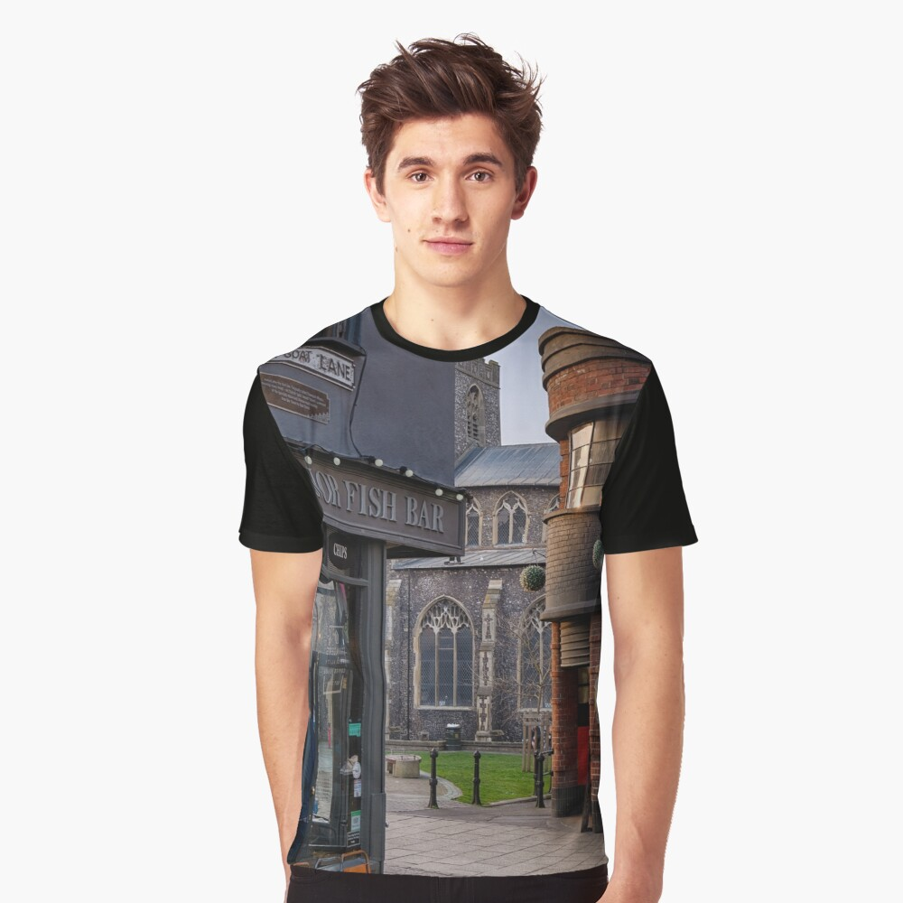 Lower Goat Lane, Norwich Graphic T-Shirt