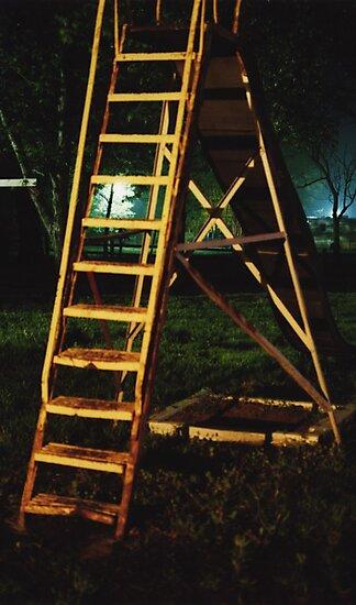 Night slide in Wakarusa by agenttomcat