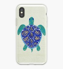 Sea Turtle – Navy & Gold iPhone Case
