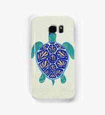 Sea Turtle – Navy & Gold Samsung Galaxy Case/Skin