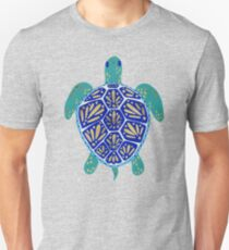 Sea Turtle – Navy & Gold T-Shirt