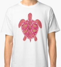 Pink & Gold Sea Turtle Classic T-Shirt