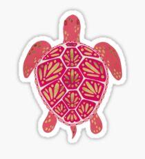 Pink & Gold Sea Turtle Sticker