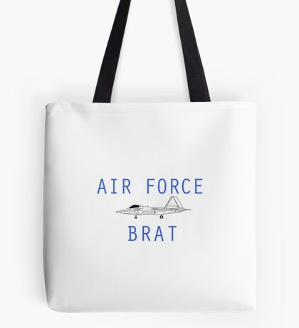 F-22 Air Force Brat Tote Bag
