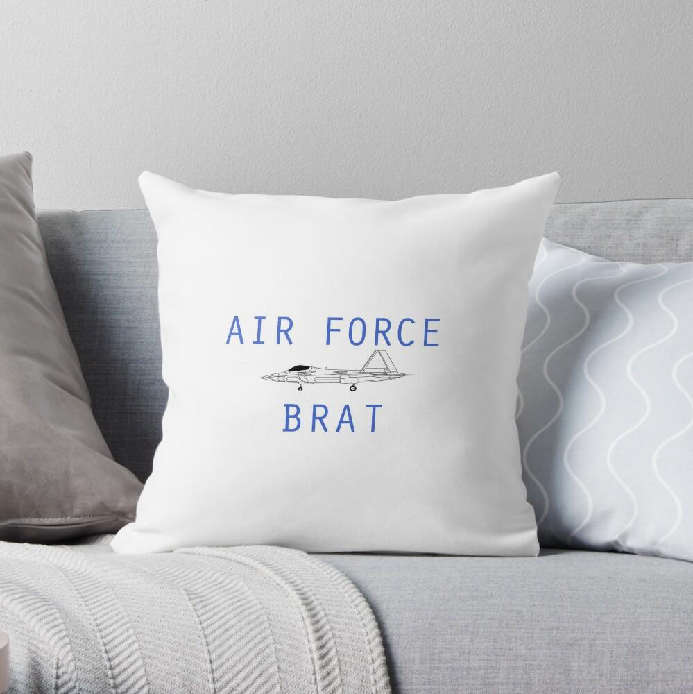 F-22 Air Force Brat Throw Pillow