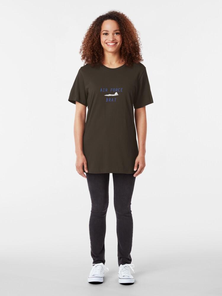 Alternate view of F-22 Air Force Brat Slim Fit T-Shirt