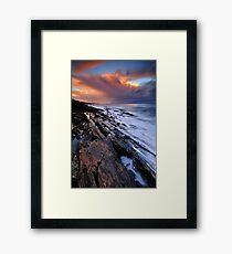 Brickmakers Sunset Framed Print