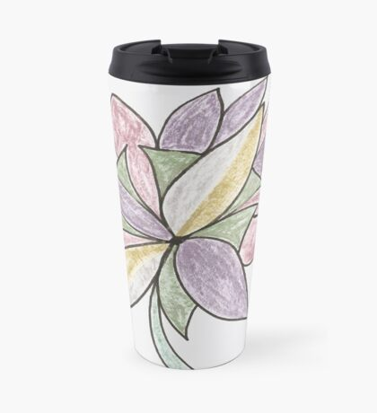 Carnivaled Flowers (a Bouquet of Pastel Colours) Travel Mug