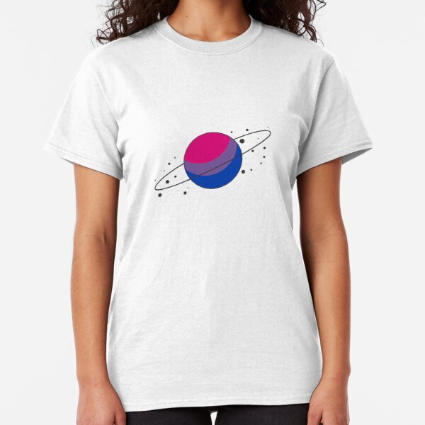Bisexual Pride Planet Classic T-Shirt