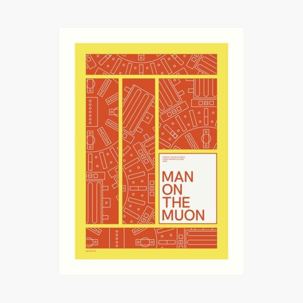 Man on the Muon Art Print