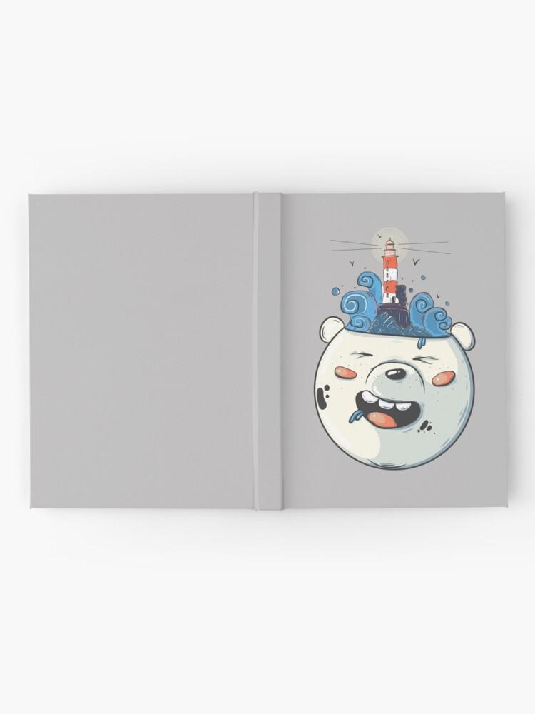 Alternate view of Ice Bear Get Idea. We Bare Bears fan art. Hardcover Journal