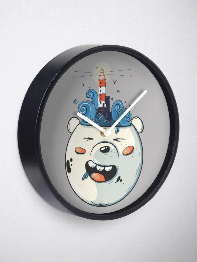 Alternate view of Ice Bear Get Idea. We Bare Bears fan art. Clock