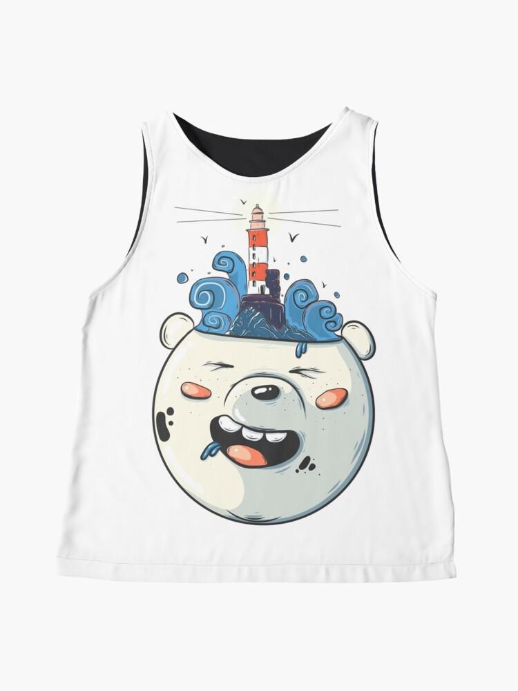 Alternate view of Ice Bear Get Idea. We Bare Bears fan art. Sleeveless Top