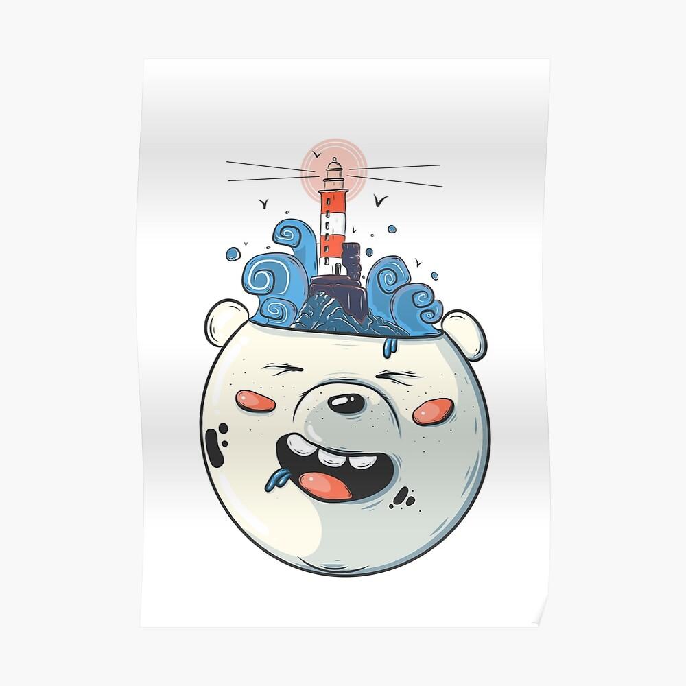 Ice Bear Get Idea. We Bare Bears fan art. Poster