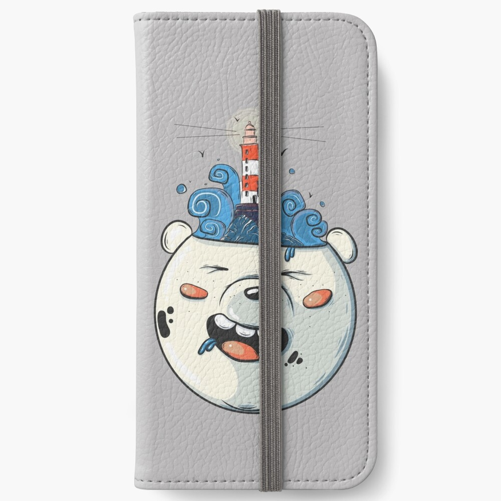 Ice Bear Get Idea. We Bare Bears fan art. iPhone Wallet