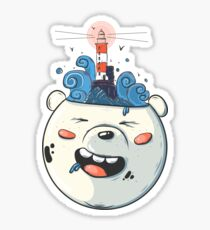 Ice Bear Get Idea. We Bare Bears fan art. Sticker
