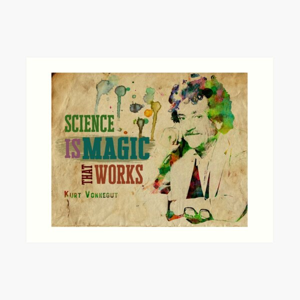 Science is Magic Watercolor Quote Art Print