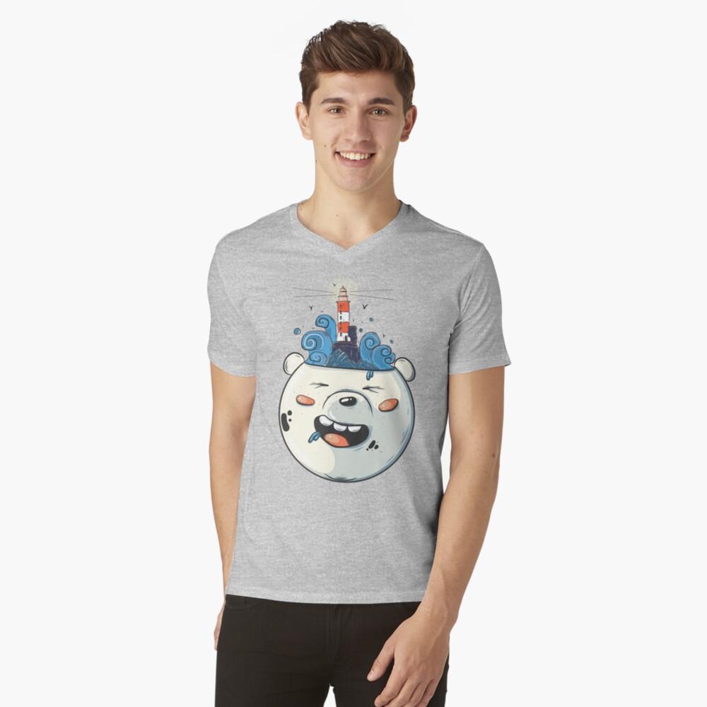 Ice Bear Get Idea. We Bare Bears fan art. V-Neck T-Shirt