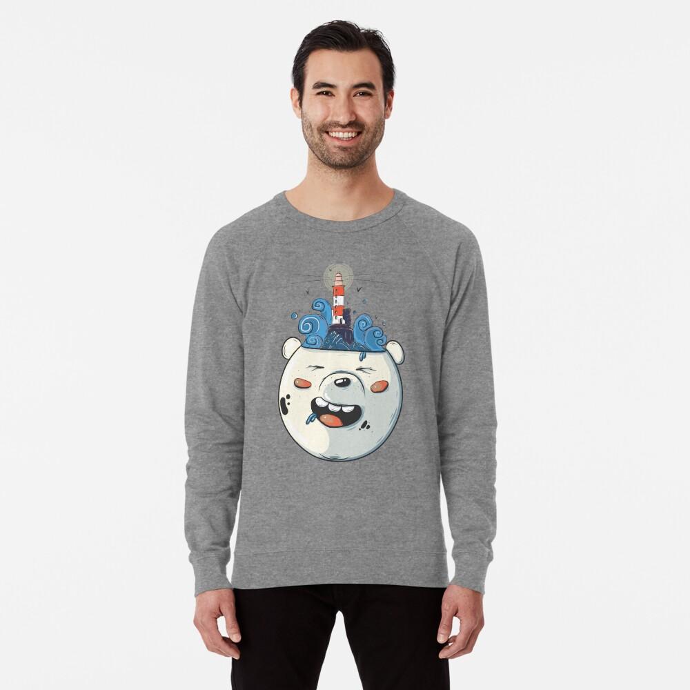Ice Bear Get Idea. We Bare Bears fan art. Lightweight Sweatshirt
