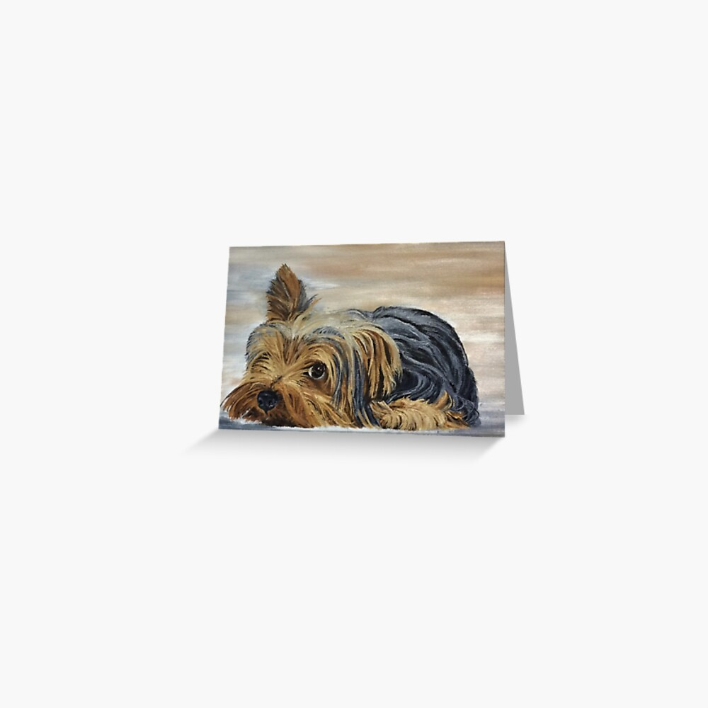 Yorkshire Terrier Appeal Greeting Card (Blank) Greeting Card