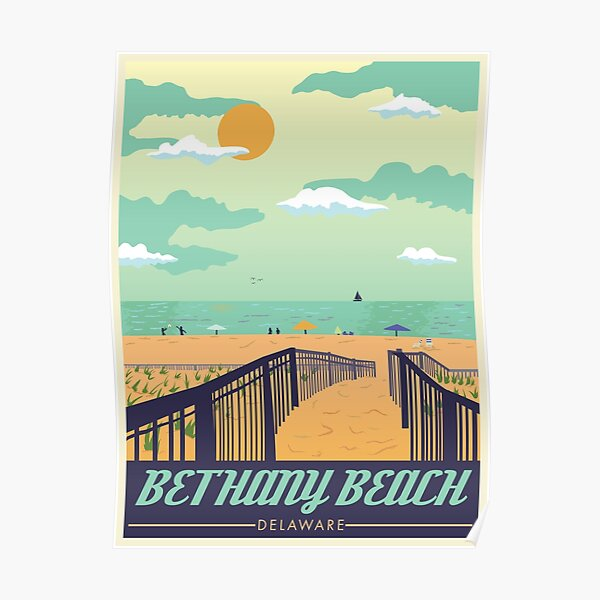 Bethany Beach Travel Poster Poster