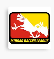 Sticker! Midgar Racing League Canvas Print