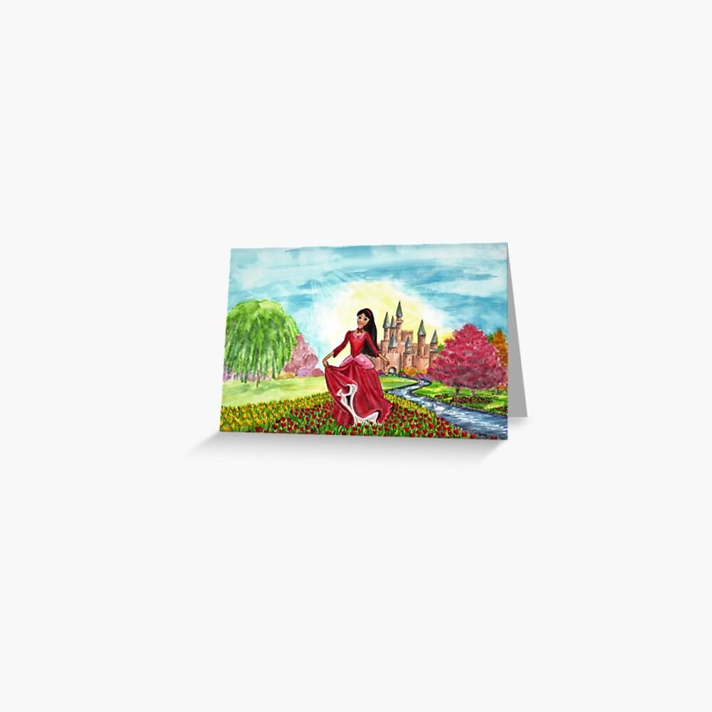 Princess Precious at Shining Palace Greeting Card (Blank) Greeting Card