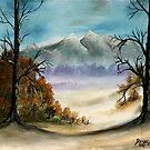 landscape mountains oil painting by derekmccrea