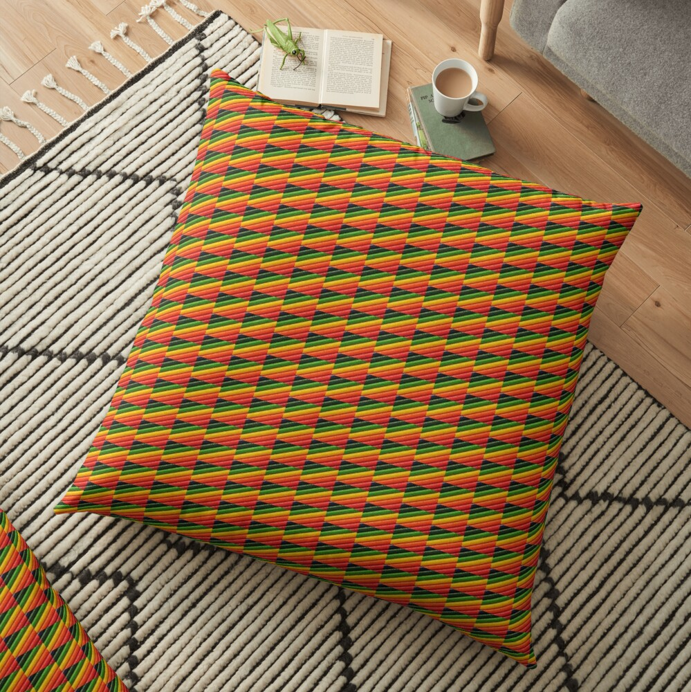 Colour strokes Floor Pillow