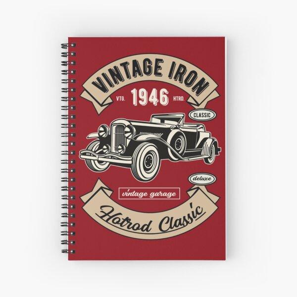 Vintage Deluxe Car Spiral Notebook