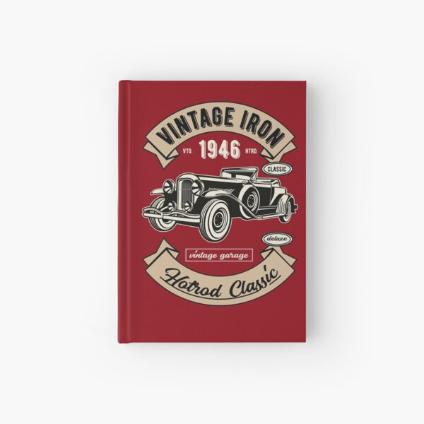 Vintage Deluxe Car Hardcover Journal