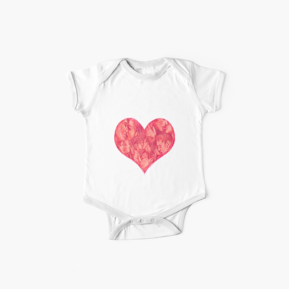 Kiss (White Background) Baby One-Pieces