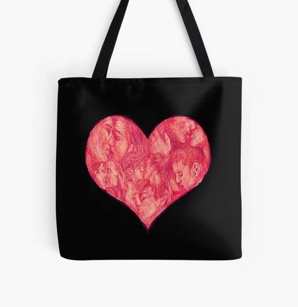 Kiss All Over Print Tote Bag