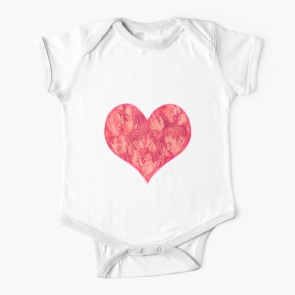 Kiss Short Sleeve Baby One-Piece