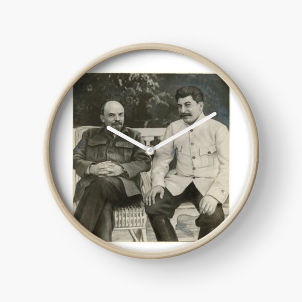 Heavily #retouched #photograph of #Stalin and #Lenin Clock