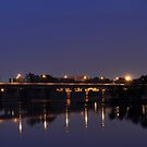 Harvey Taylor Bridge at Night by Corkle