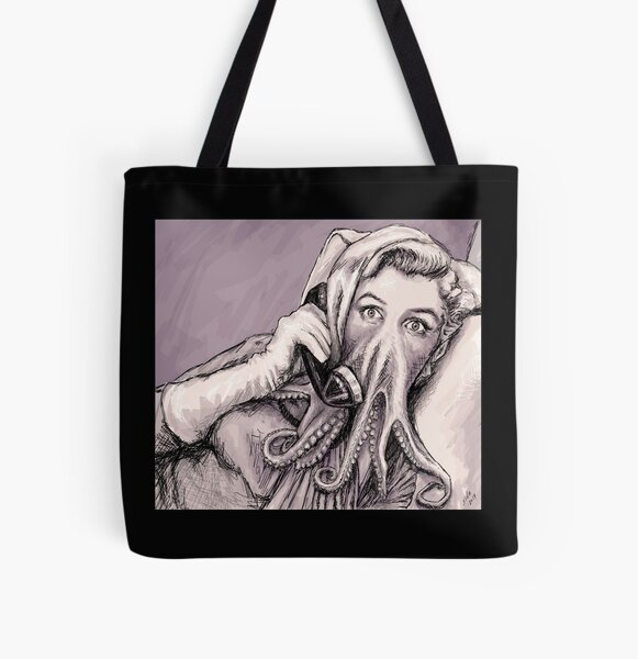 Phone Call of Cthulyn All Over Print Tote Bag