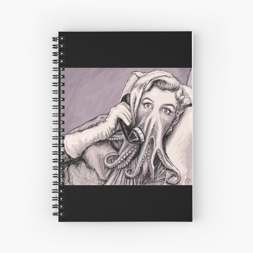 Phone Call of Cthulyn Spiral Notebook