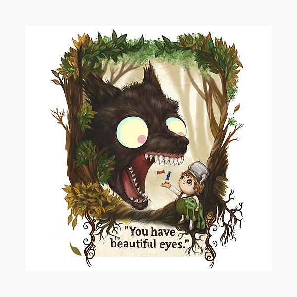 You have beautiful eyes - over the garden wall Photographic Print