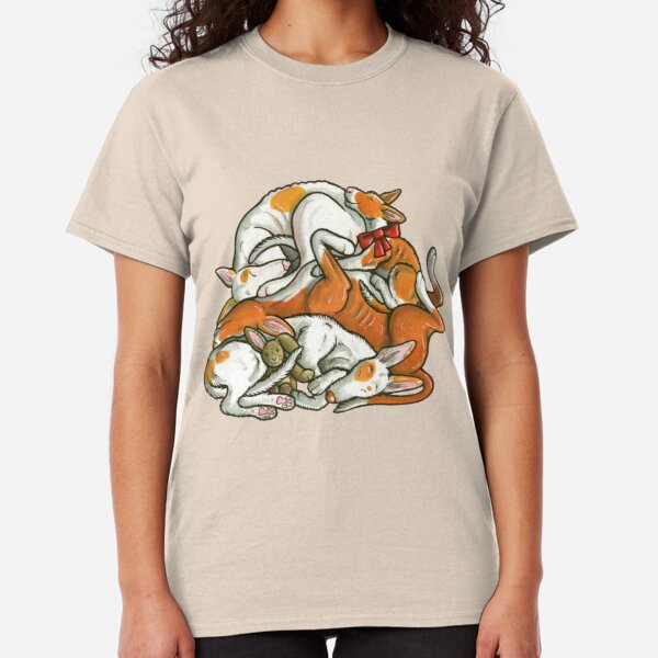Sleeping pile of Ibizan Hound dogs Classic T-Shirt