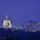 Purple Haze Over Harrisburg by Corkle